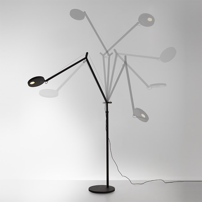 [Artemide/아르떼미데] Demetra Reading Floor - Movement Detector - 3000K - Body Lamp - Anthracite Grey